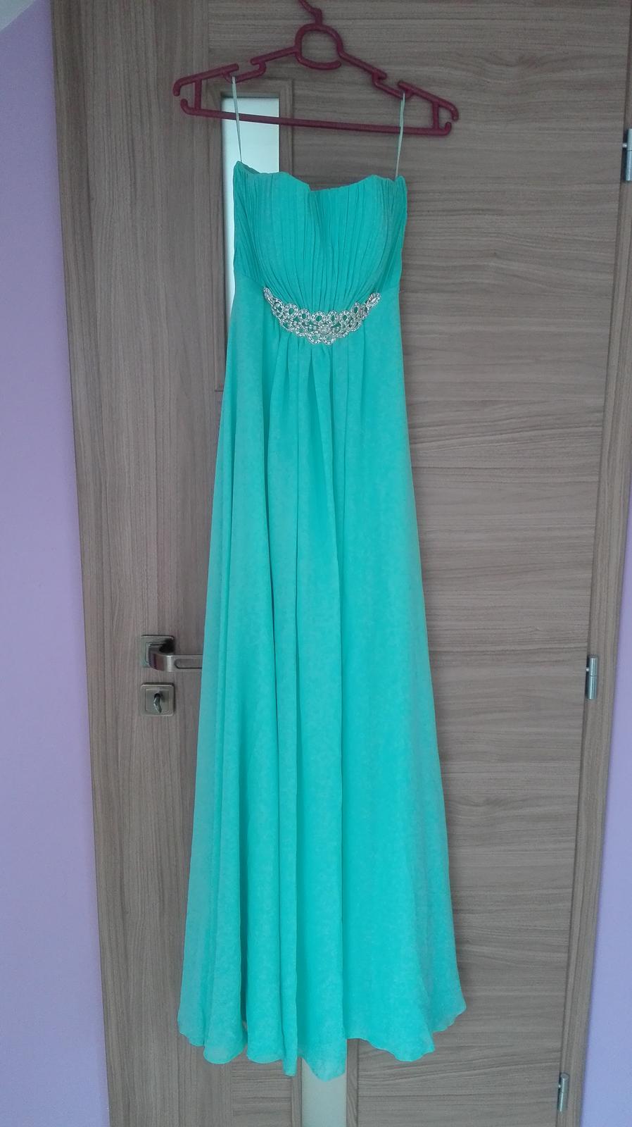 67bbc8a2478 Tyrkysové spoločenské šaty