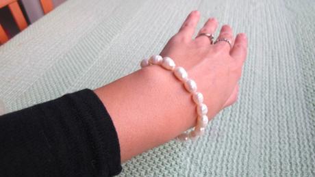 perlovy naramok - prave perly ,