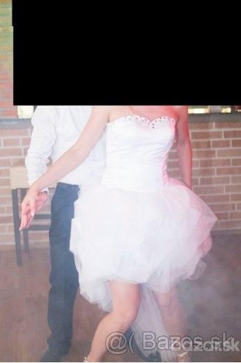 Krátke svadobné šaty 36, 42