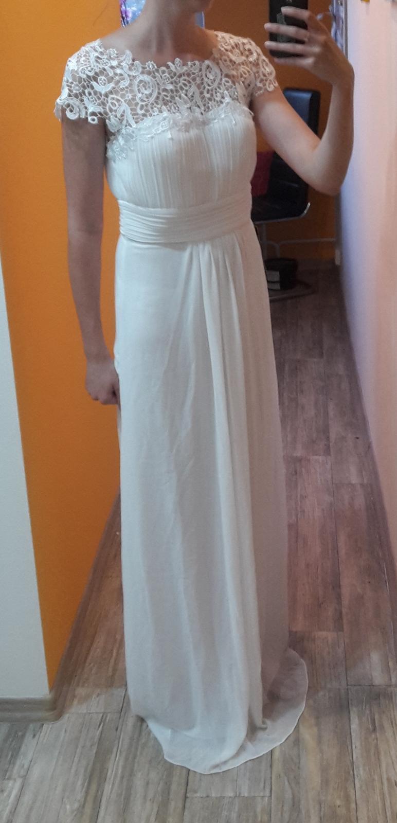 fb0b19b17 Čipkovane jednoduche svadobne šaty, 38 - 60 €   Svadobný bazár    Mojasvadba.sk