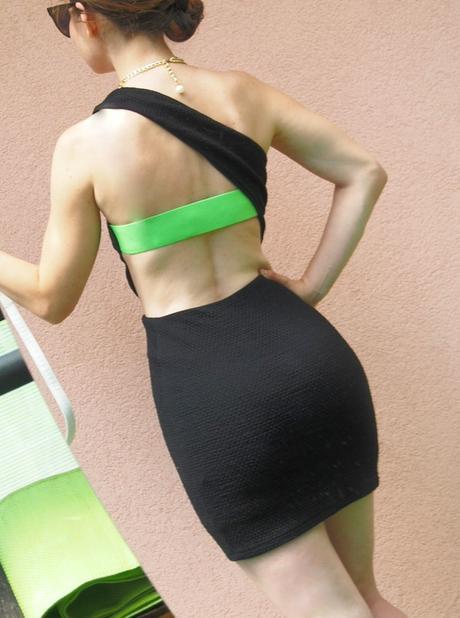 Asos Bodycon Bandeau šaty na jedno rameno, S