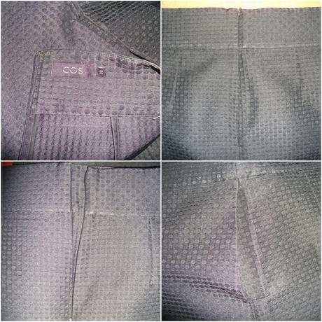 COS áčková sukňa s hodvábom a textúrou New, M