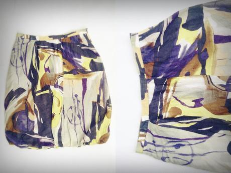 Hirsch akvarelová hodvábna sukňa, S