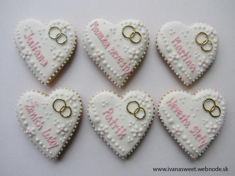 Svadobné perníčky s prstienkami,