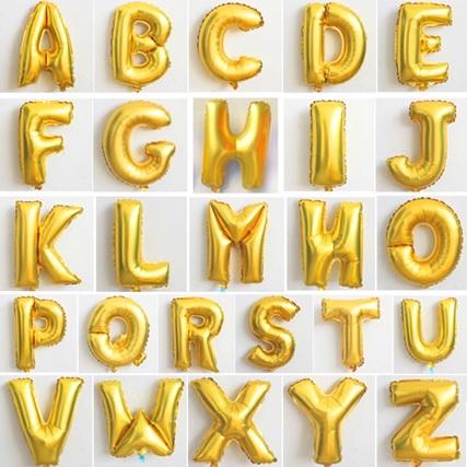 balónky - nápis love - zlatý,