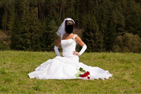 svatební šaty Elianna Moore, mořská panna, 36