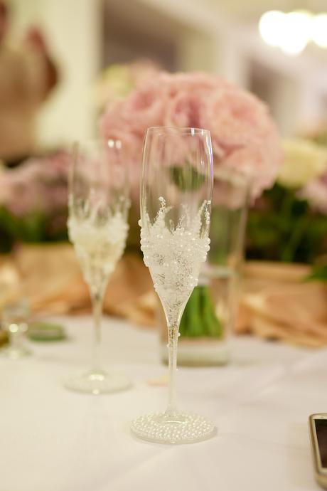 Svadobné perličkové poháre,