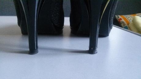Cierne trblietave spolocenske topanky, 37