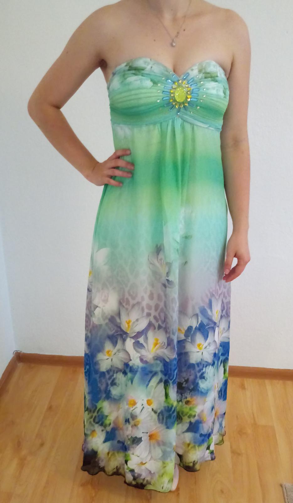 a49e21777efd Dlhé kvetinové spoločenské šaty