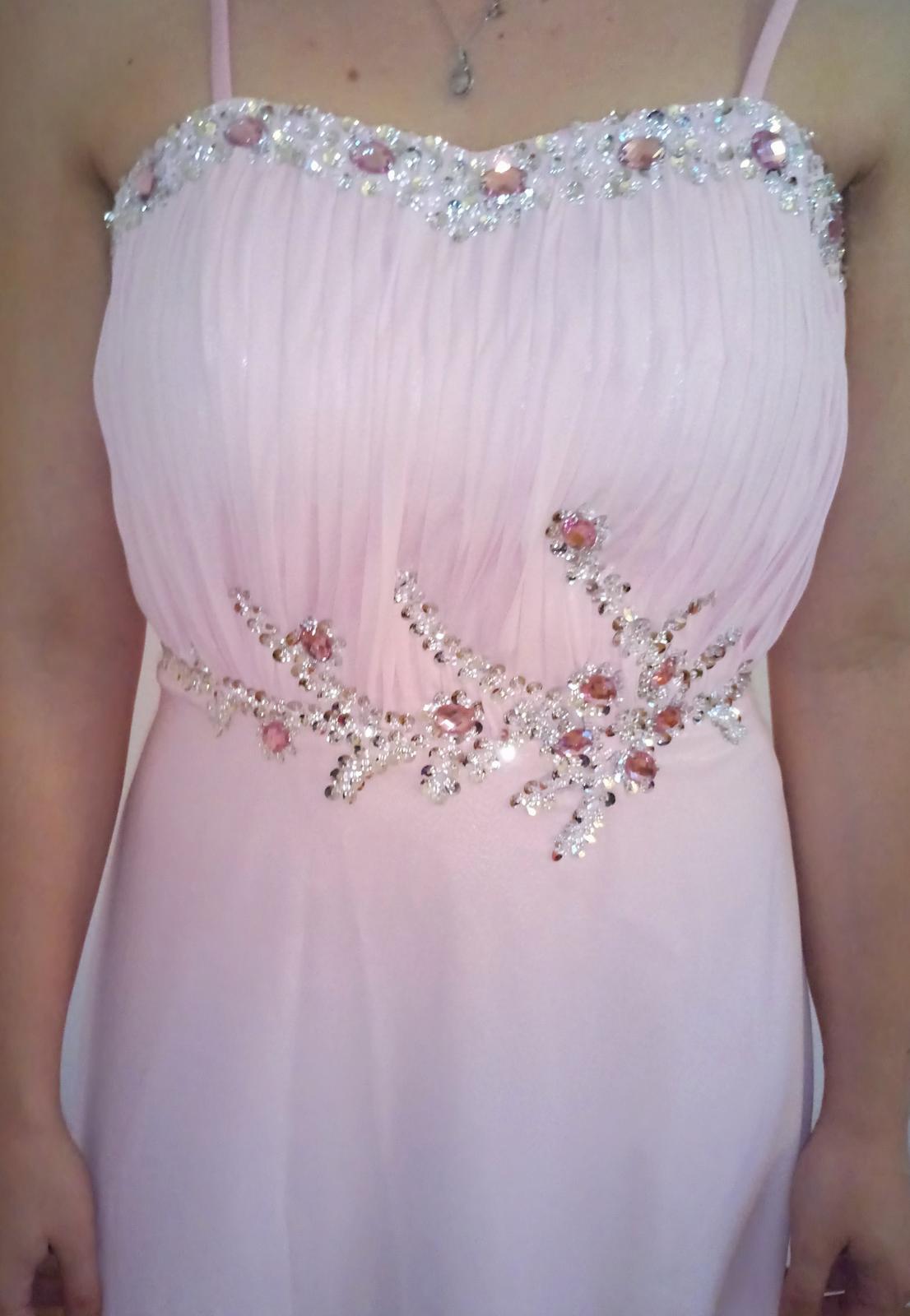 Svetlo ružové šaty veľ.36 a577619f873