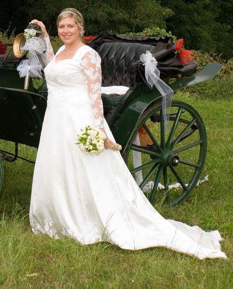 Svatební šaty, barvy šampáň vel. 44-48, 46