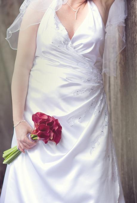 Saténové svatební šatičky, 42