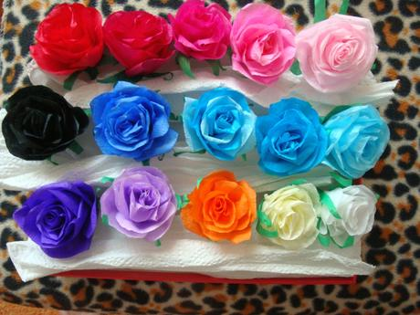 dekorácie s ružami,