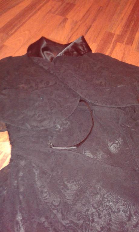 Čierne šaty - čipka s poštou, 40