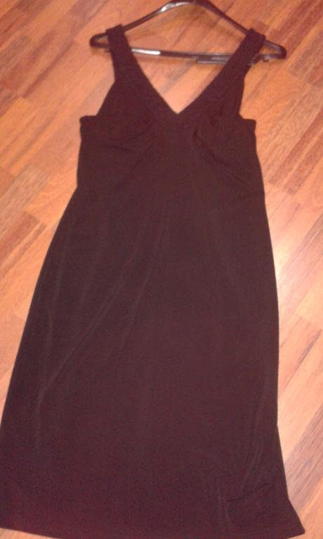 Čierne šaty elastické s poštou, 42