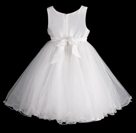 Šaty družička - bílé , vel. 104/110, 104