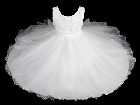 Šaty družička - bílé , vel. 110/116, 110