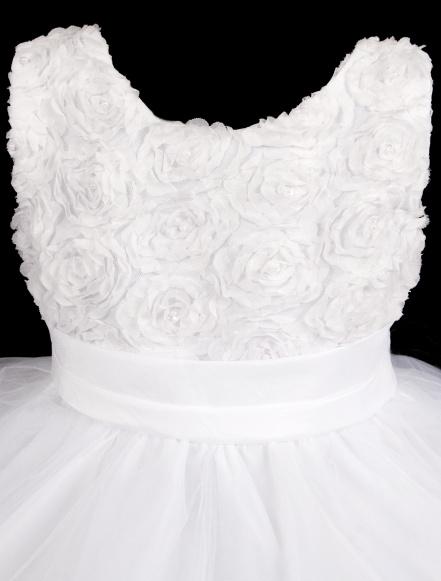 Šaty družička - bílé , vel. 122/128, 122