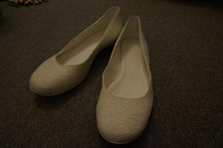 Krajkové balerinky, ivory, 42