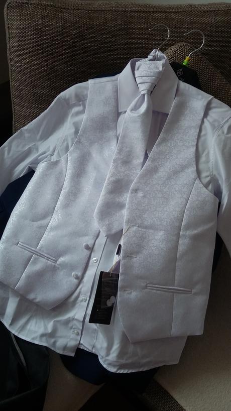 Svadobný set - Vesta ,kravata a vreckovka do saka., 46