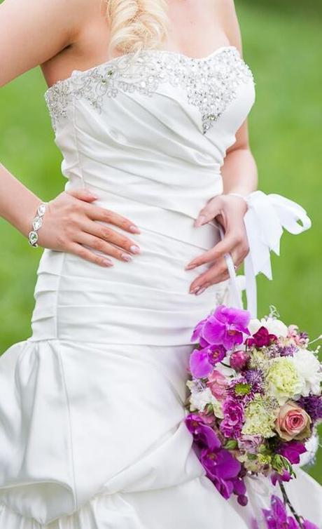 Svadobné šaty + darček , 38
