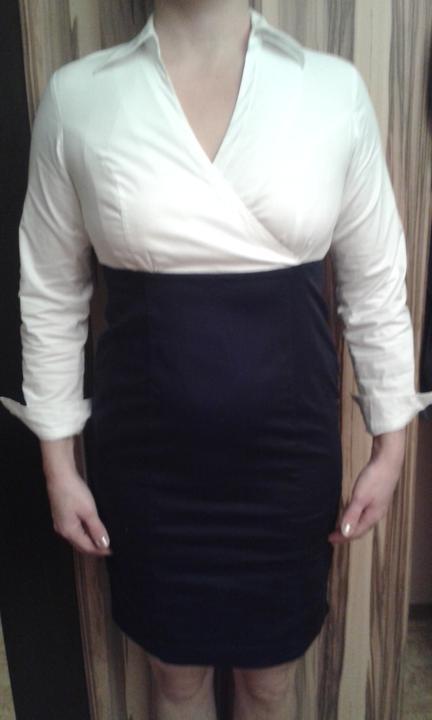 Krátke šaty s dlhým rukávom, 40