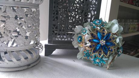 Modrá mini kytička ,