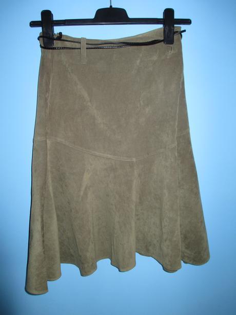 Khaki sukně se zdobeným páskem, 40