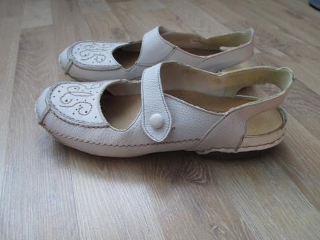 Kožené sandály/baleríny, 38