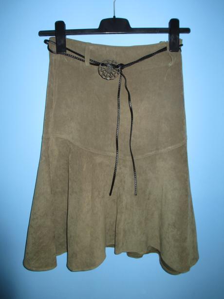 POSLEDNÍ ŠANCE - Khaki sukně se zdobeným páskem, 40