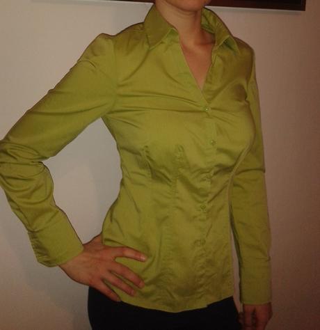 Zelená košile s dl. rukávem, 38