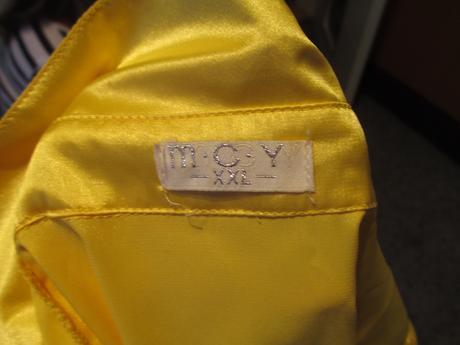 Žlutá lesklá halenka, L