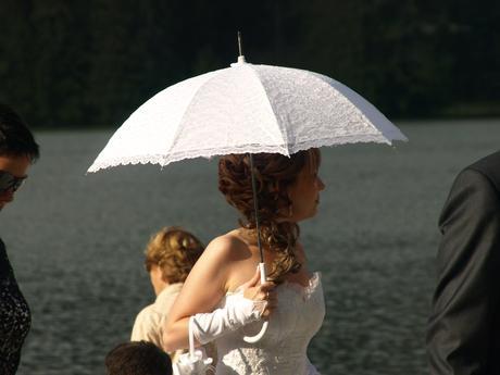 Čipkovaný dáždnik ,