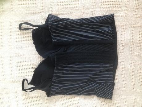 Černý korzet s bílými proužky 75-80B F&F, 80B