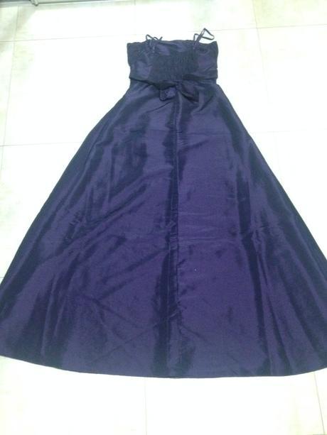 Tmavofialové společenské šaty 38, 38