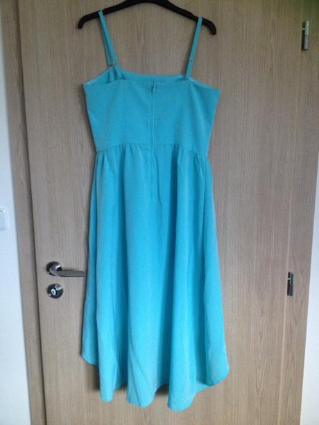 Tyrkysové šaty orsay využité 1x, 40