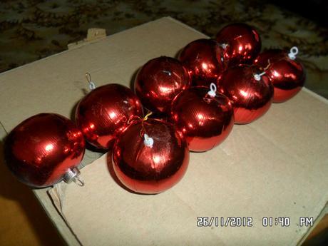 Vianočné guľe,
