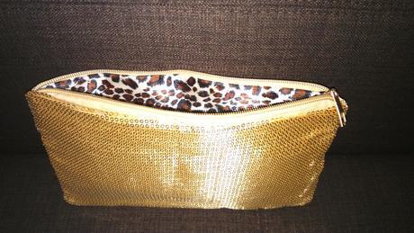 zlatá spoločenská kabelka ,