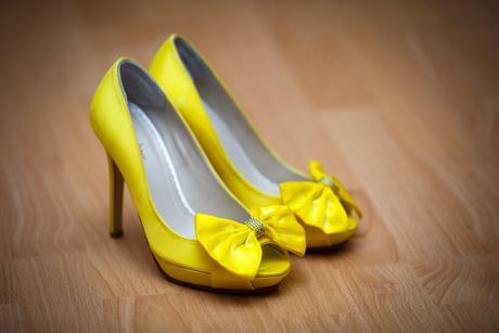 Žlté svadobné topánky, 36