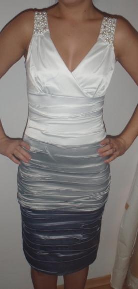 sivo-biele šaty , 36