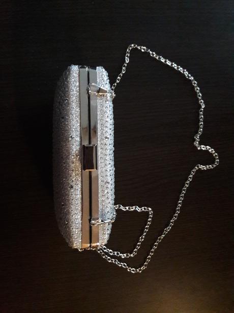 Stříbrná svatební kabelka,