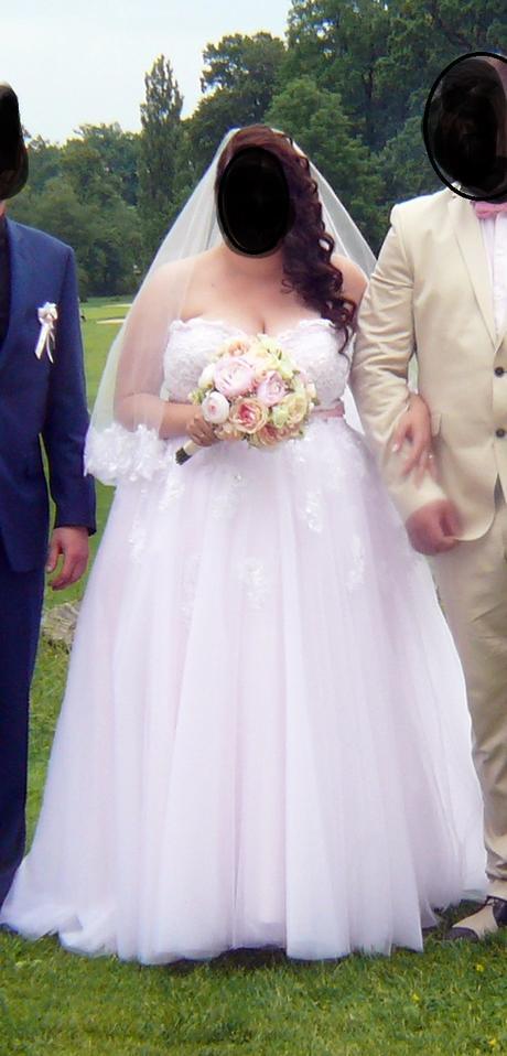 Svatební šaty vel.46-48 -HIT sezony-pudrová barva, 46