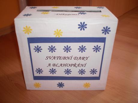 Krabice na svatební oznámení a peníze,