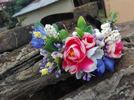 Kvetinová čelenka Rúth,