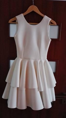 Krátké svatební šaty - popůlnočky, 36