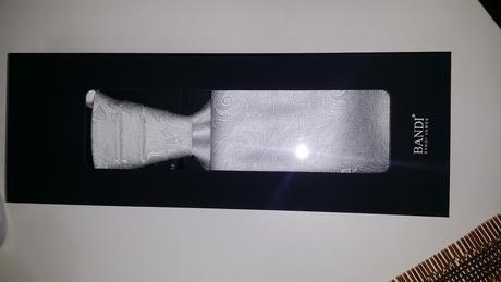 Bílá svatební kravata BANDI,