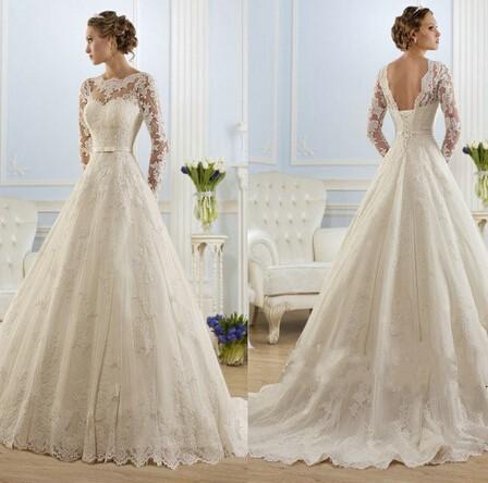 Nádherné čipkované svadobné šaty ec6f7405c33