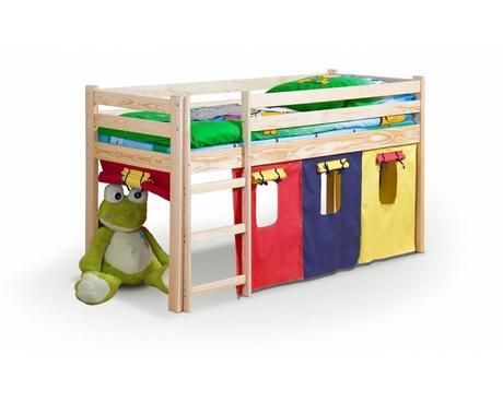 Textilní domeček na vyvýšenou postel ,