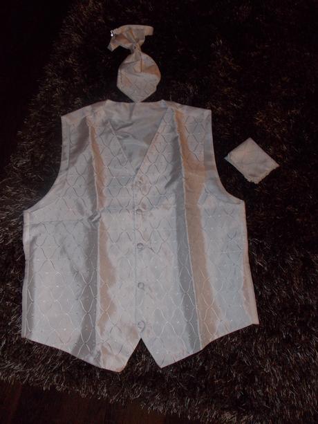 Francúzka svadobná vesta a kravata + ozdo kapesník 3832ff339bd