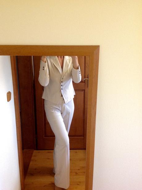 Nohavicový kostým na vyššiu postavu, 40